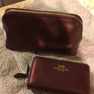 New W/O Tags Coach Makeup Bag and Card Holder